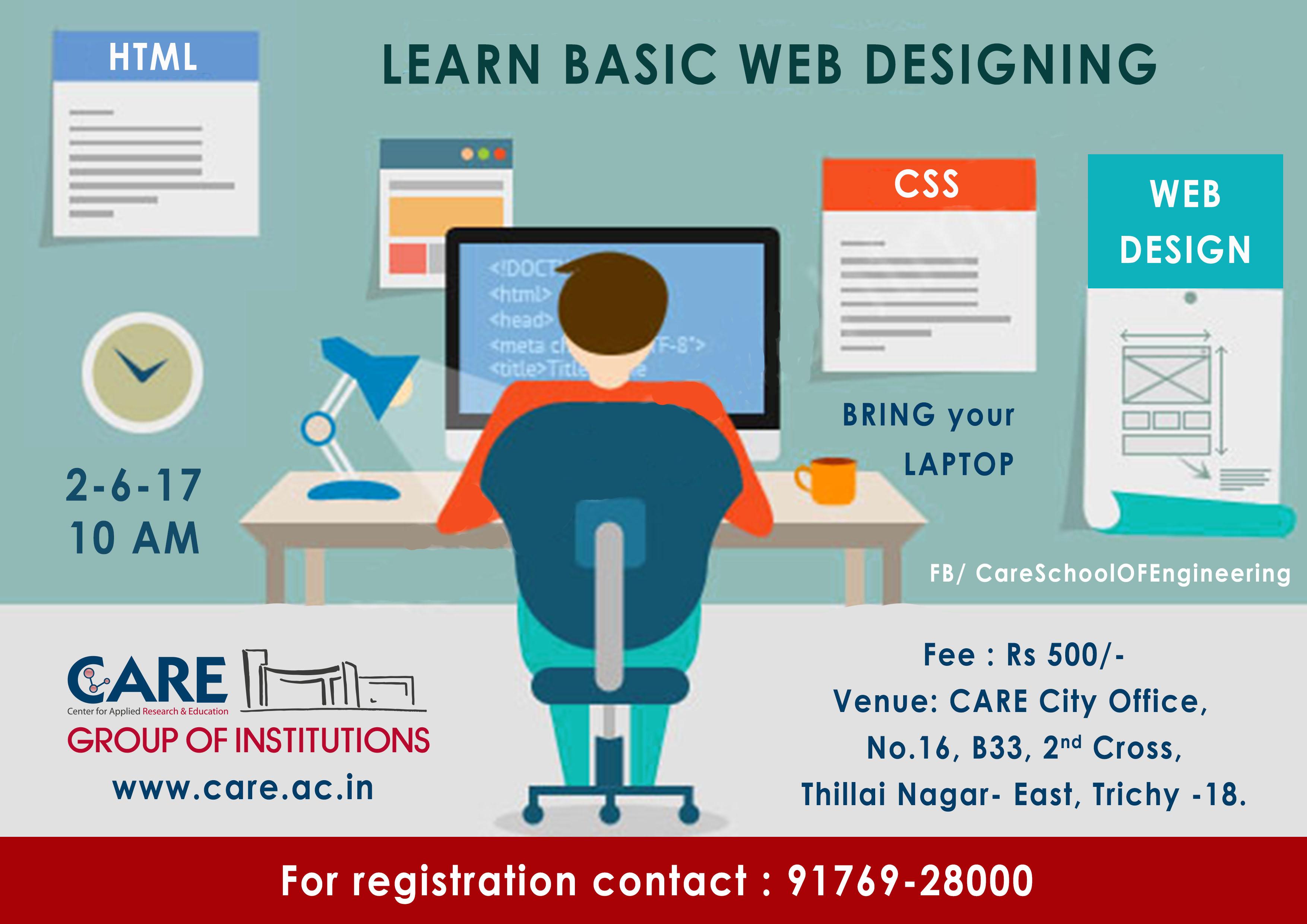 Poster design workshop - Web Designing Workshop
